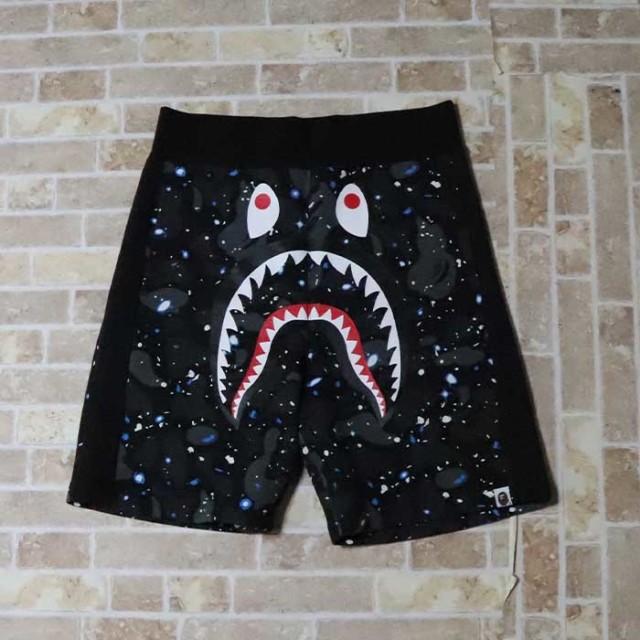国内正規品 2019SS A BATHING APE BAPE SPACE CAMO SHARK SHORTS Black 新品未使用品 [ ベイシングエイプ ベイプ スペース カモ シャーク ショーツ ブラック 黒 ]