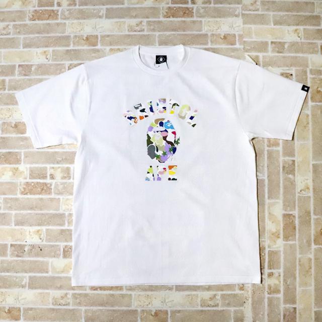 国内正規品 2019SS A BATHING APE BAPE × F.C. Real Bristol MULTI CAMO COLLEGE TEE WHITE 新品未使用品 [ ベイシングエイプ ベイプ F.C.R.B. マルチカモ カレッジ Tシャツ FCRB 白 ]