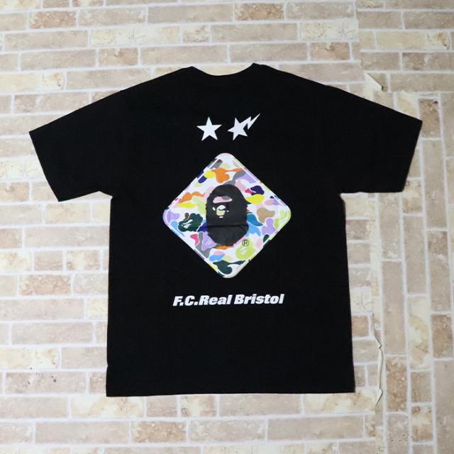 国内正規品 2019SS A BATHING APE BAPE × F.C. Real Bristol BACK EMBLEM TEE BLACK 新品未使用品 [ ベイシングエイプ ベイプ F.C.R.B. バック エンブレム Tシャツ FCRB 黒 ]