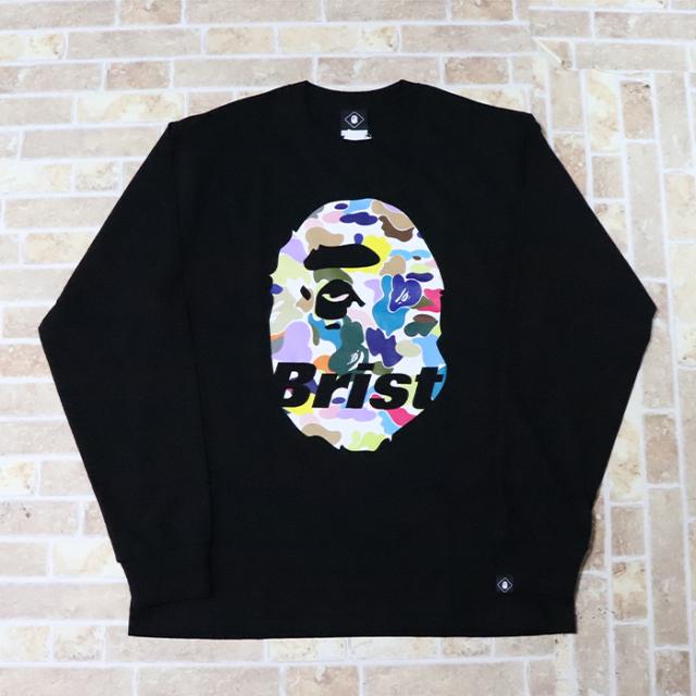 国内正規品 2019SS A BATHING APE BAPE × F.C. Real Bristol L/S APE HEAD TEE BLACK 新品未使用品 [ ベイシングエイプ ベイプ F.C.R.B. エイプヘッド 長袖 Tシャツ ロンT FCRB 黒 ]