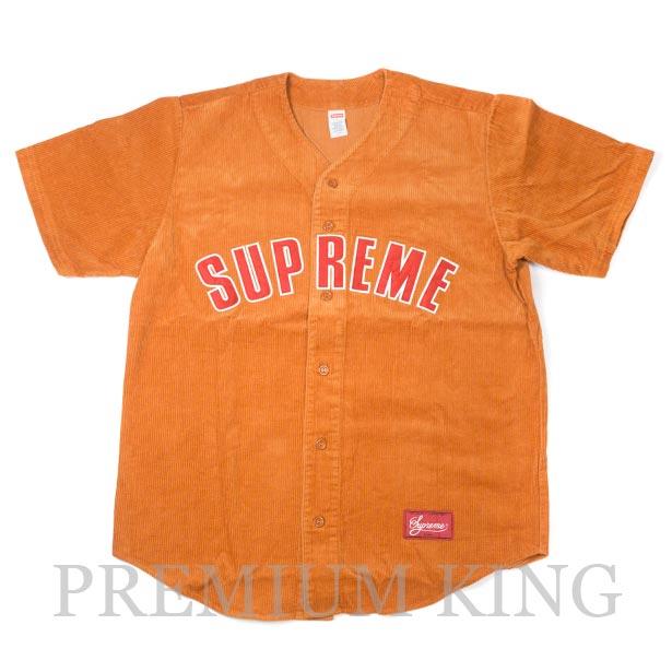 国内正規品 2018SS Supreme Corduroy Baseball Jersey Orange 新品未使用品 [ シュプリーム コーデュロイ ベースボール ジャージ オレンジ 橙色 ]