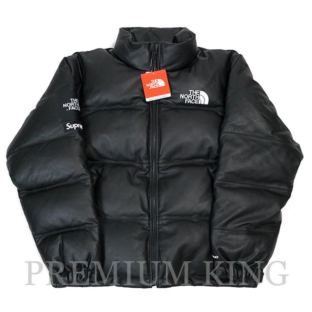 国内正規品 2017FW SUPREME × THE NORTH FACE Leather Nuptse Jacket Black 新品未使用品 [ シュプリーム ノースフェイス レザー ヌプシジャケット ブラック 黒 ]