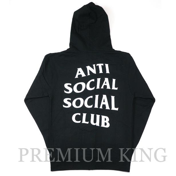 正規品 ANTI SOCIAL SOCIAL CLUB Mind Games Zip Up Hoodie Black 新品未使用品 [ ASSC アンチ ソーシャル ソーシャル クラブ マインド ゲーム ジップ アップ フーディー ブラック ]