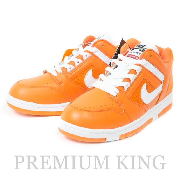 国内正規品 2017AW Supreme × Nike SB Air Force 2 Orange 新品未使用品 [ シュプリーム ナイキ エア フォース 2 オレンジ AA0871-818 ]