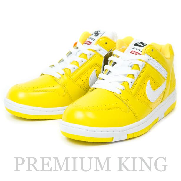 国内正規品 2017AW Supreme × Nike SB Air Force 2 Yellow 新品未使用品 [ シュプリーム ナイキ エア フォース 2 イエロー 黄 AA0871-717 ]