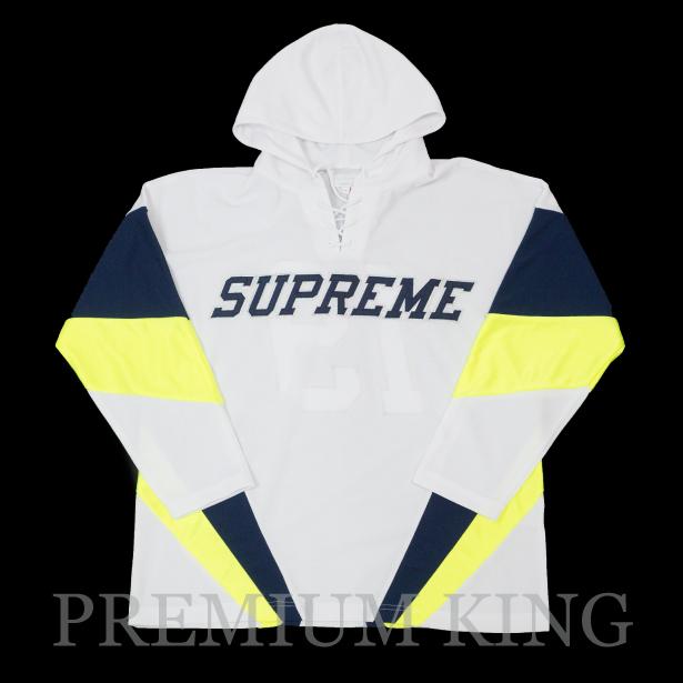 国内正規品 2017AW Supreme Hooded Hockey Jersey White 新品未使用品 [ シュプリーム フーディー ホッケー ジャージー ホワイト 白 ]