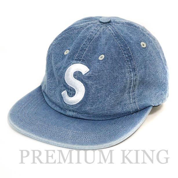 国内正規品 2018SS Supreme Washed Chambray S Logo 6-Panel Cap Blue 新品未使用品 [ シュプリーム ウォッシュド シャンブレー S ロゴ 6パネル キャップ ブルー 青 ]
