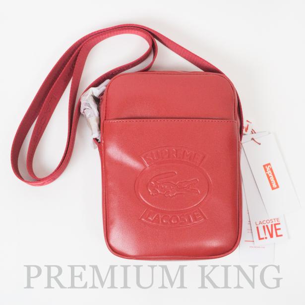国内正規品 2018SS Supreme × LACOSTE Shoulder Bag Red 新品未使用品 [ シュプリーム ラコステ ショルダーバッグ レッド]