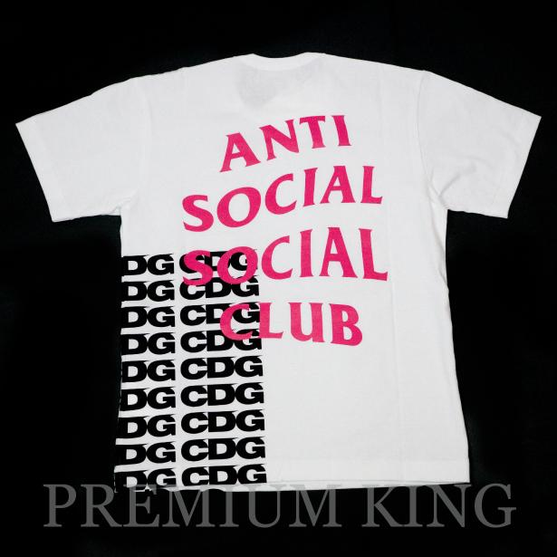 国内正規品 2018SS CDG by COMME des GARCONS × Anti Social Social Club Logo Tee White 新品未使用品 [ CDG BREAKING NEWS コムデギャルソン アンチ ソーシャル ソーシャル クラブ Tシャツ ホワイト ]