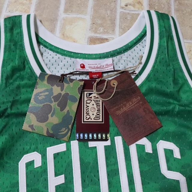 657fa8c8 国内正規品 2018AW BAPE A BATHING APE CELTICS ABC BASKETBALL SWINGMAN JERSEY  TANKTOP GREEN 新品未使用品