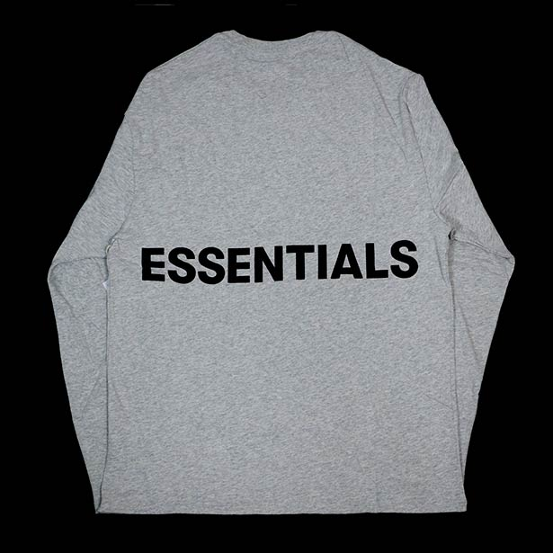 国内正規品 FOG Fear of god Essentials Boxy Graphic Long Sleeve T-Shirt Gray 新品未使用品 [ フィアオブゴッド Tシャツ グレー ]