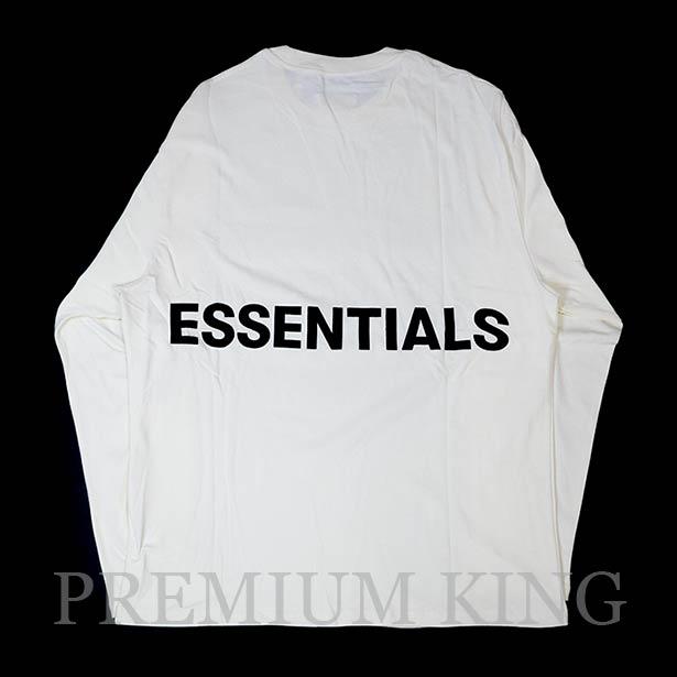 国内正規品 FOG Fear of god Essentials Boxy Graphic Long Sleeve T-Shirt Cream 新品未使用品 [ フィアオブゴッド Tシャツ クリーム ]