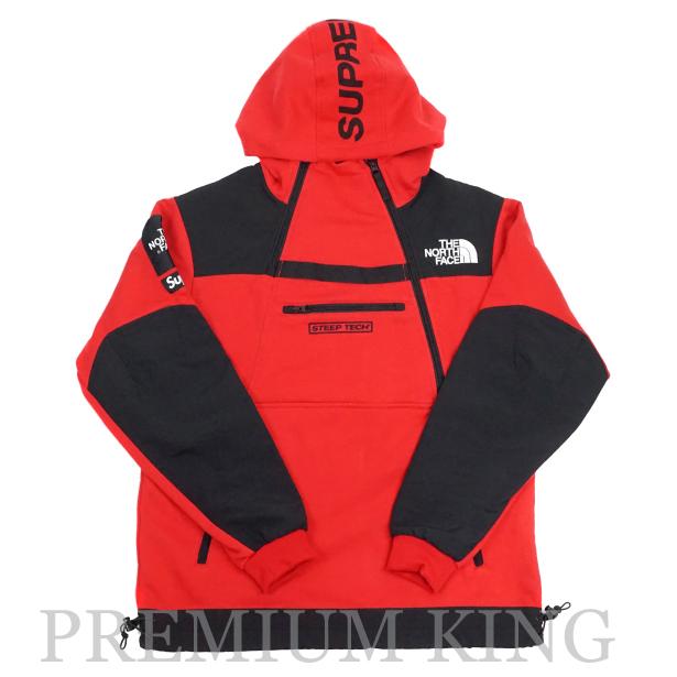 ■国内正規品■2016SS Supreme × The North Face Steep Tech Hooded Sweatshirt Red 未使用品 [ シュプリーム ノースフェイス スティープテック フーディ スウェットシャツ パーカー レッド 赤 ]
