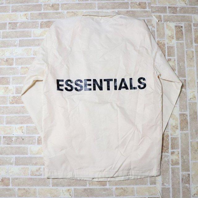 国内正規品 FOG Fear Of God Essentials Coaches Jacket Cream 新品未使用品 [ フィアオブゴッド エッセンシャルズ コーチジャケット クリーム 白 ]