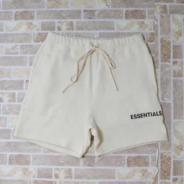 正規品 2019SS FOG Fear Of God Essentials Logo Sweat Shorts Cream 新品未使用品 [ フィアオブゴッド エッセンシャルズ ロゴ スウェット ショーツ クリーム ]