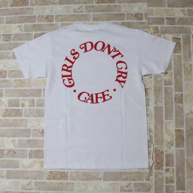 """正規品 2019 Girls Don't Cry Meets Amazon Fashion """"AT TOKYO"""" GDC-01 T-shirt White 新品未使用品 [ ガールズ ドント クライ ミーツ アマゾン ファッション Tシャツ レッド ホワイト 白 ]"""
