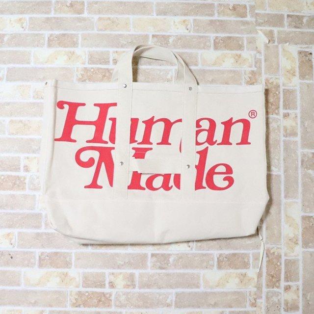 国内正規品 2019SS HUMAN MADE × Girls Don't Cry TOTE BAG LARGE White 新品未使用品 [ ヒューマンメイド ガールズ ドント クライ トートバッグ ホワイト 白 ]