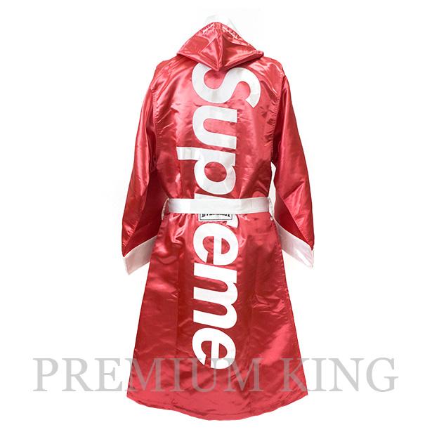 国内正規品 2017FW Supreme × Everlast Satin Hooded Boxing Robe Red 新品未使用品 [ シュプリーム エバーラスト サテン フーディー ボクシング ローブ レッド ]