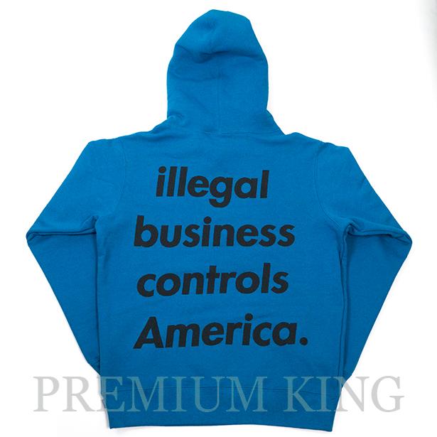 国内正規品 2018SS Supreme Illegal Business Hooded Sweatshirt Blue 新品未使用品 [ シュプリーム イリーガル ビジネス フーディー パーカー ブルー 青 ]