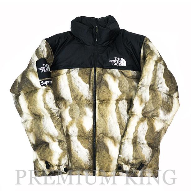国内正規品 2013AW SUPREME × THE NORTH FACE Nuptse Jacket Fur Print BLACK/BROWN 美中古品 [ シュプリーム ノースフェイス ヌプシジャケット ファープリント ダウンジャケット ブラック ブラウン 黒 茶 ]