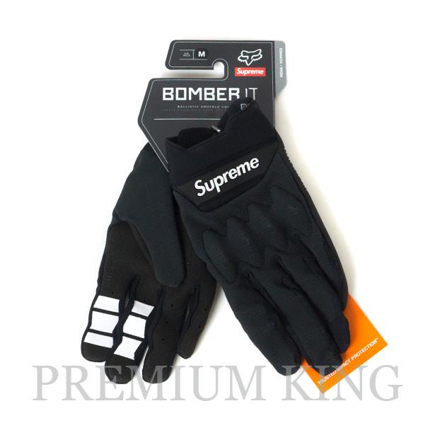 国内正規品 2018SS Supreme Fox Racing Bomber LT Gloves Black 新品未使用品 [ シュプリーム フォックスレーシング ボンバー グローブ ブラック ]