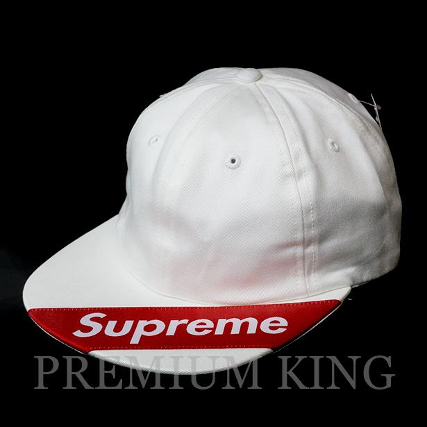 国内正規品 2018SS Supreme Visor Label 6-Panel Cap White 新品未使用品 [ シュプリーム バイザー ラベル 6 パネル キャップ ホワイト 白 ]