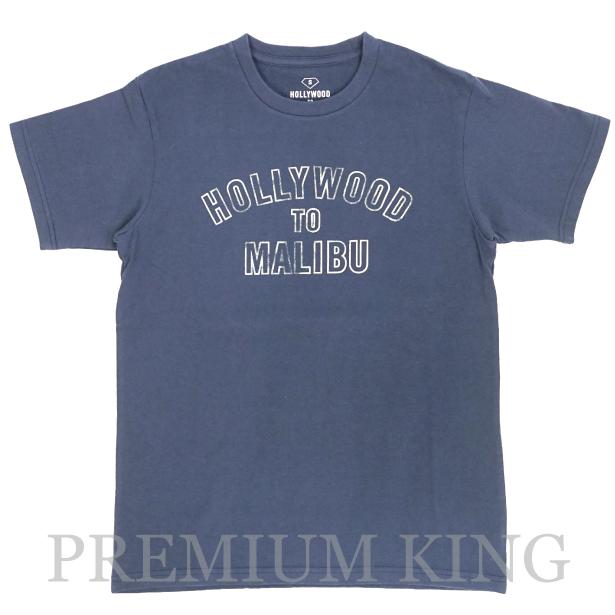 16SS RHC Ron Herman  HOLLYWOOD TO MALIBU LOGO PRINT TEE NAVY 未使用品 [ ロンハーマン ハリウッド トゥ マリブ ロゴ プリント Tシャツ ネイビー 紺 ]