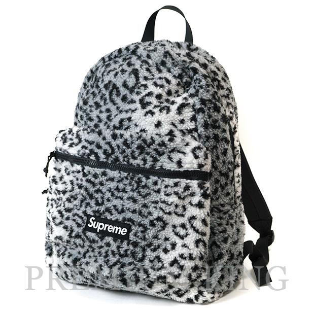 国内正規品 2017AW Supreme Leopard Fleece Backpack White 新品未使用品 [ シュプリーム レパード フリース バックパック ホワイト 白 ]