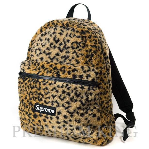 国内正規品 2017AW Supreme Leopard Fleece Backpack Yellow 新品未使用品 [ シュプリーム レパード フリース バックパック イエロー 黄 ]