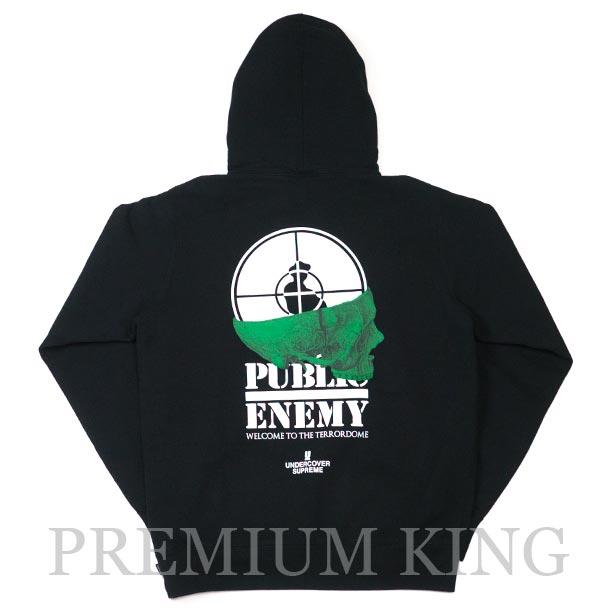国内正規品 2018SS Supreme/Undercover/Public Enemy Terrordome Hooded Sweatshirt Black 新品未使用品 [ シュプリーム アンダーカバー パブリックエネミー テラードーム フーディ パーカー ブラック 黒 ]