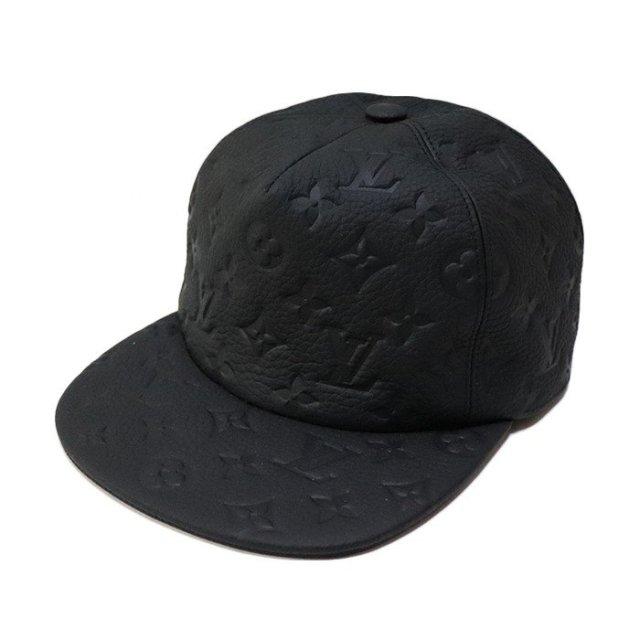 国内正規品 2019SS LOUIS VUITTON VIRGIL ABLOH LEATHER CAP BLACK 新品未使用品 [ ルイ・ヴィトン ヴァージル・アブロー レザー キャップ ブラック 黒 MP2320 オフホワイト ]