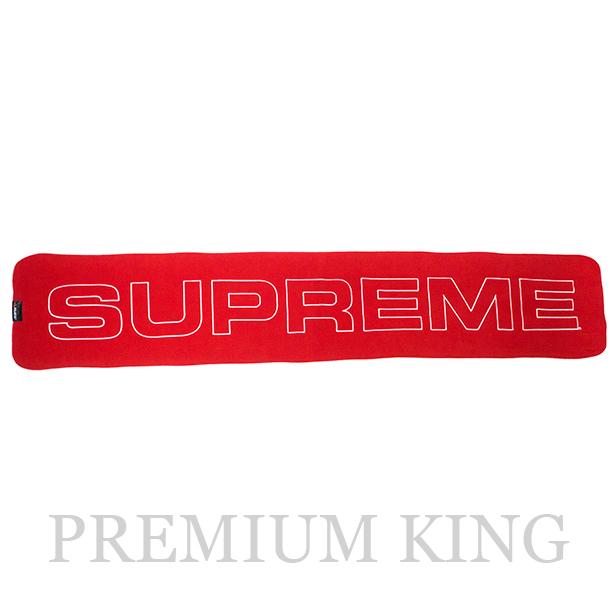 国内正規品 2017AW Supreme Polartec Logo Scarf Red 新品未使用品 [ シュプリーム ポーラテック フリース ロゴ スカーフ レッド 赤 ]
