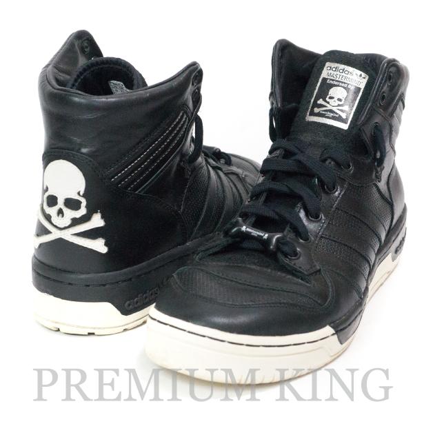 国内正規品 adidas Originals × mastermind Japan RIVALRY HI MMJ  black1/black1/black1 美中古品 [  アディダス オリジナルス マスターマインド ジャパン ライバルリー ハイ ブラック G96303]