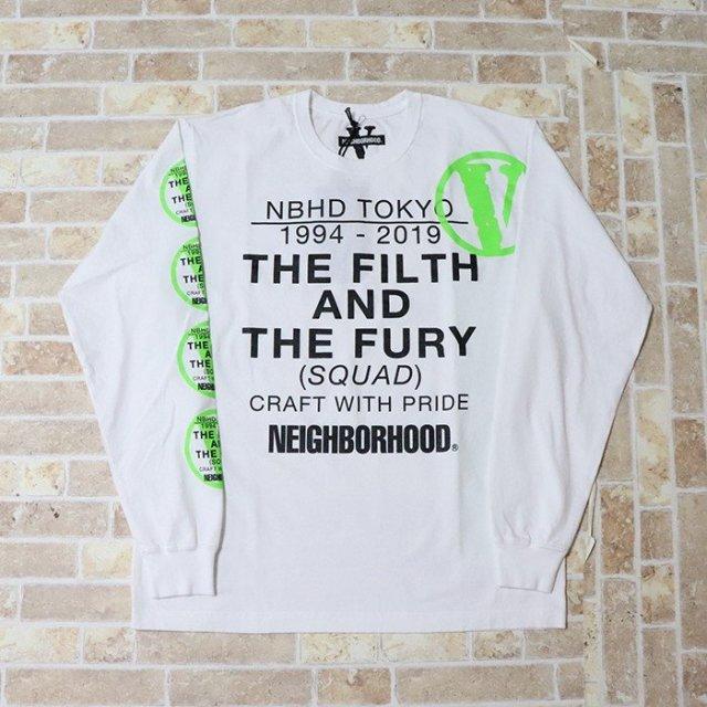 国内正規品 2019SS VLONE × NEIGHBORHOOD NHVL.T-1/C-TEE.LS White 新品未使用品 [ ネイバーフッド ヴィーローン Tシャツ 長袖 ホワイト 白 ]