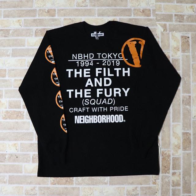 国内正規品 2019SS VLONE × NEIGHBORHOOD NHVL.T-1/C-TEE.LS Black 新品未使用品 [ ネイバーフッド ヴィーローン Tシャツ 長袖 ブラック 黒 ]