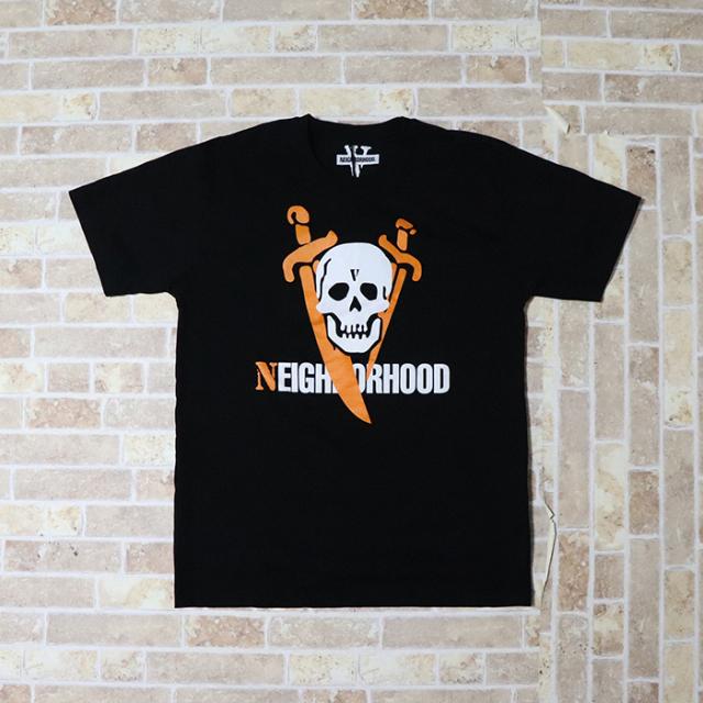 国内正規品 2019SS VLONE × NEIGHBORHOOD NHVL.T-2/C-TEE.SS Black 新品未使用品 [ ネイバーフッド ヴィーローン Tシャツ ブラック 黒 ]