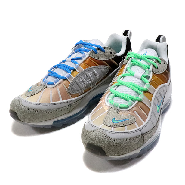 "Nike Air Max 98 OA ""NYC"" Vast Grey/Electoro Green CI1502-001新品未使用品 [ ナイキ エアマックス ニューヨークシティ グレー ]"