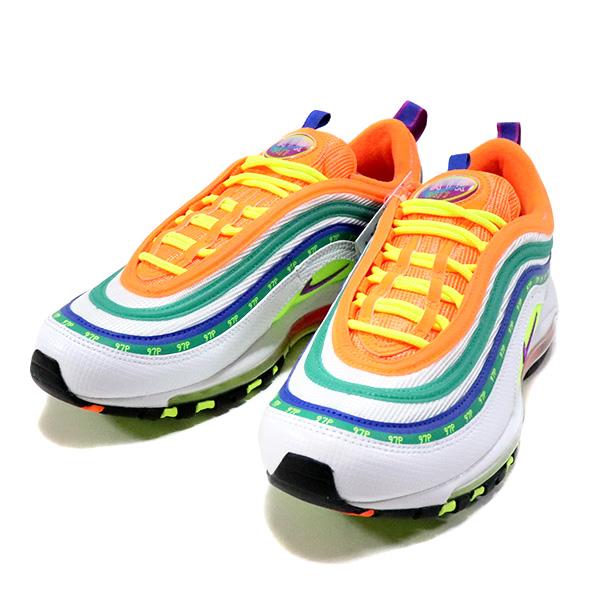 """国内正規品 Nike Air Max 97 OA """"London Summer of Love"""" White/Hyper-Violet-Volt CI1504-100 新品未使用品 [ ナイキ エアマックス ロンドン サマーオブラブ ホワイト 白 ]"""