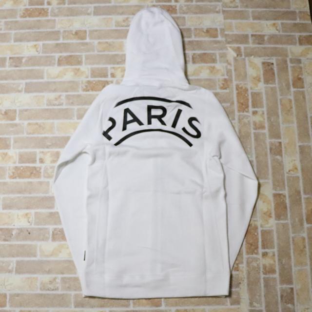 正規品 2019SS NIKE × PSG Paris Saint-Germain Wings Full Zip Hoodie White 新品未使用品 [ ナイキ パリサンジェルマン エア ジョーダン AJ ロゴ ジップ フーディー 白 ]