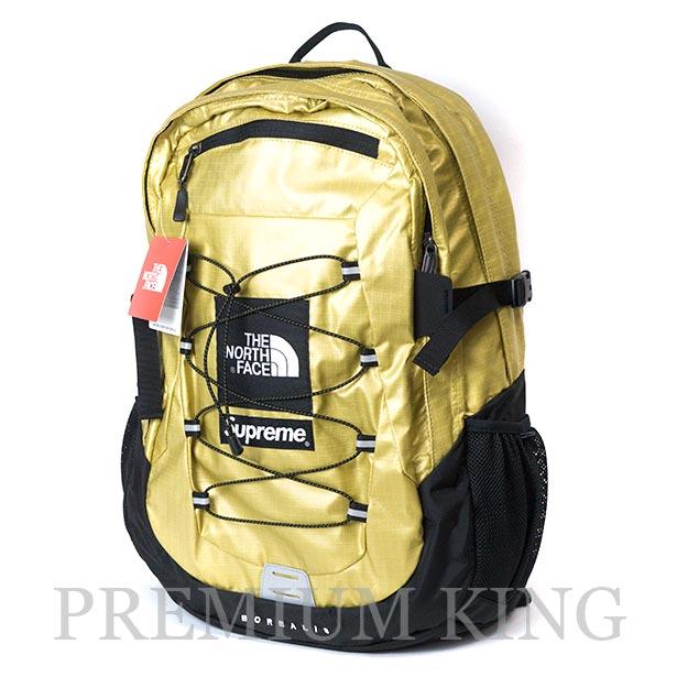 国内正規品 2018SS Supreme × The North Face Metallic Borealis Backpack Gold 新品未使用品 [ シュプリーム TNF ノースフェイス メタリック ボレアリス バックパック ゴールド ]