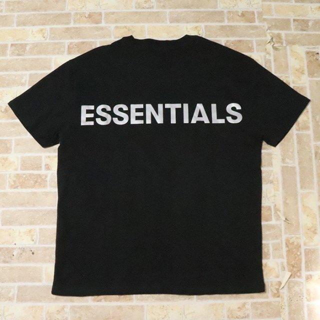 正規品 2019AW FOG Fear Of God Essentials Boxy T-Shirt Black 新品未使用品 [ フィア オブ ゴッド フォグ エッセンシャルズ Tシャツ ブラック 黒 ]