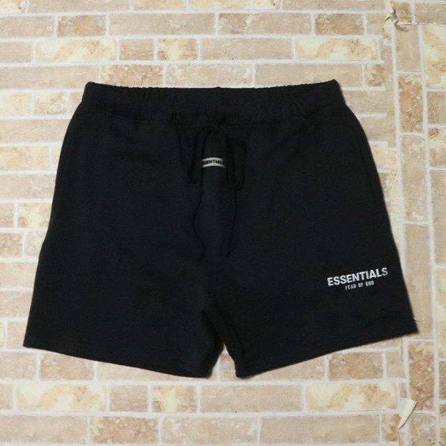 国内正規品 2019AW FOG ESSENTIALS Sweat Shorts Black 新品未使用品 [ フィアオブゴッド エッセンシャルズ ロゴ スウェット ショーツ ブラック 黒 ]