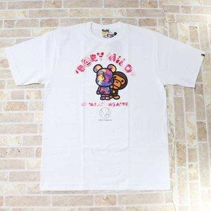 国内正規品 2019SS A BATHING APE BAPE MILO × M mika ninagawa BE@R TEE Pink 新品未使用品 [ ベイシングエイプ ベイプ 蜷川実花 ベア Tシャツ ピンク 白 ]