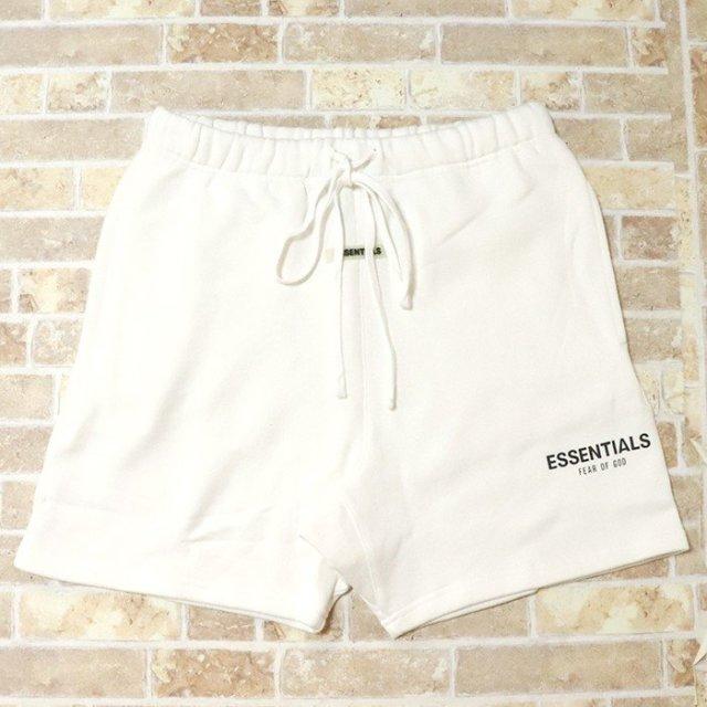 正規品 2019AW FOG ESSENTIALS Sweat Shorts White 新品未使用品 [ フィアオブゴッド エッセンシャルズ ロゴ スウェット ショーツ ホワイト 白 ]