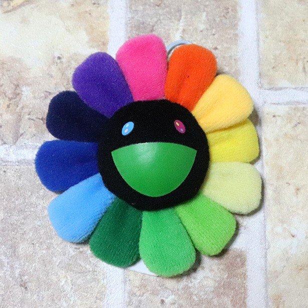 国内正規品 kaikaikiki 村上隆 Flower Keychain Rainbow & Black 新品未使用品 [ カイカイキキ フラワー お花  キーチェーン レインボー ブラック 黒 ]