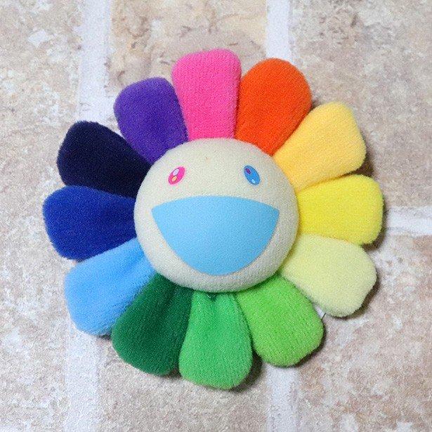 国内正規品 kaikaikiki 村上隆 Flower Keychain Rainbow & White 新品未使用品 [ カイカイキキ フラワー お花  キーチェーン レインボー ホワイト 白 ]
