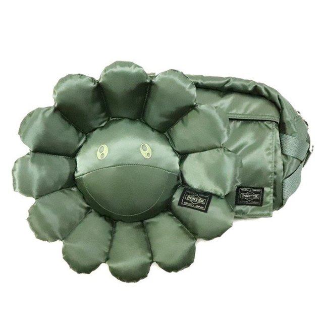 国内正規品 村上隆 x PORTER Waist Bag Sage Green 新品未使用品 [ Takashi Murakami カイカイキキ kaiakaikiki ウエストバッグ セージグリーン 緑 ]