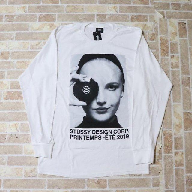 正規品 2019SS STUSSY Printemps L/S Tee White 新品未使用品 [ ステューシー シャネル Tシャツ ホワイト 白 長袖 ]