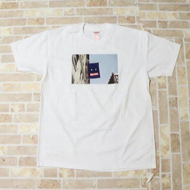 国内正規品 2019AW Supreme Banner Tee White 新品未使用品 [ シュプリーム バナー Tシャツ ホワイト ]