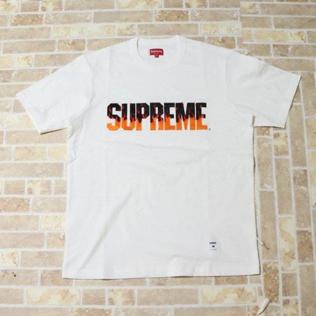 国内正規品 2019AW Supreme Flame S/S Top White 新品未使用品 [ シュプリーム フレイム ショートスリーブ トップ Tシャツ ホワイト 白 ]